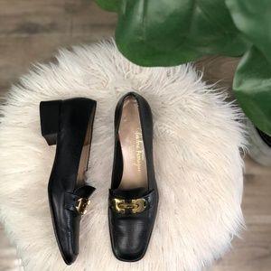 Salvatore Ferragamo Boutique BuckleLeather Loafers
